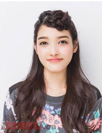 加股辫视频教程,中长发甜美升级 吸睛韩式发型扎法学习