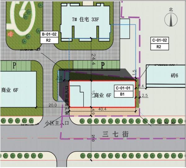平顶山鑫鸿嘉园办公楼修建规划公示 紧邻三七街6层建筑插图2