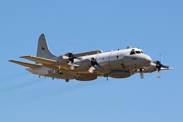美军一架侦察机疑似侵入中国台湾领空