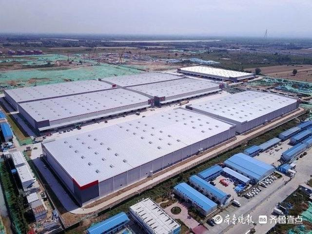 俯瞰济南先行区智慧物流产业园,占地6700亩气魄宏大