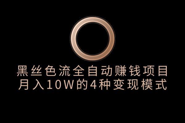 佐道副业特训营3:黑丝论坛色流全自动赚钱项目,月入10W的4种变现模式