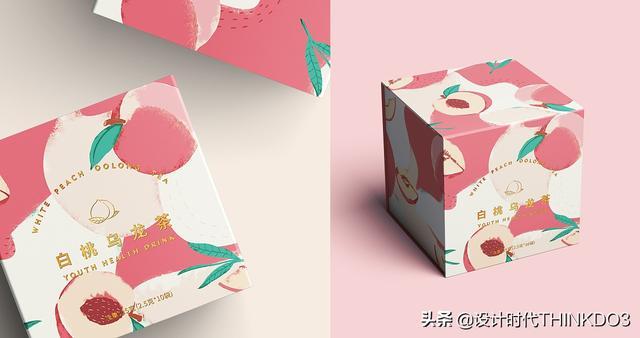 两款清新时尚风格的花茶包装设计,简直不要太美(图2)
