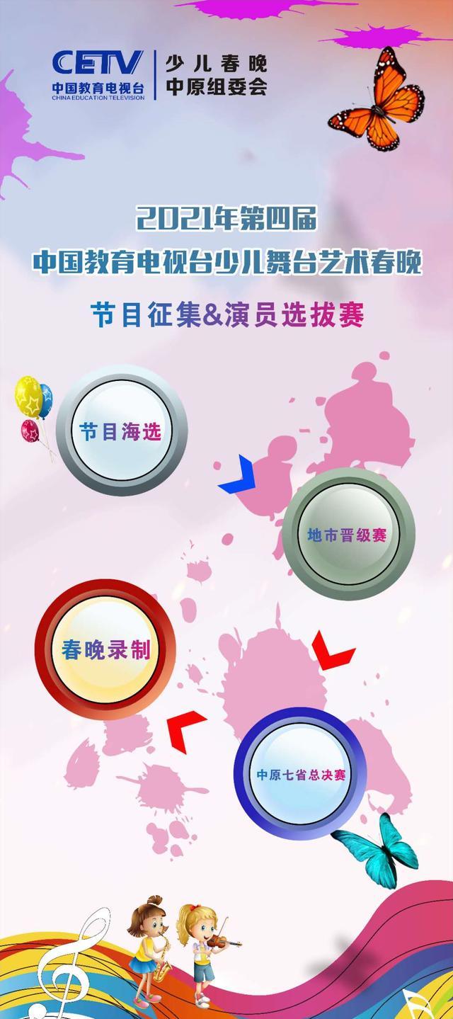2021年中国教育电视台少儿舞台艺术春晚开始报名了