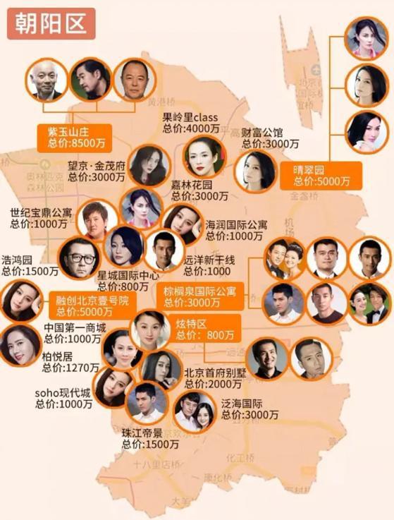 50位明星京城豪宅曝光,葛优张国立是邻居,宋丹丹住约1亿豪宅
