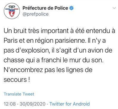 巴黎传出巨大爆炸声 警方称系战斗机音爆-第1张