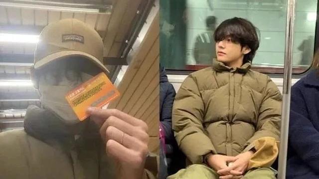 體驗平凡的日常生活!BTS防彈少年團V摘下口罩搭地鐵