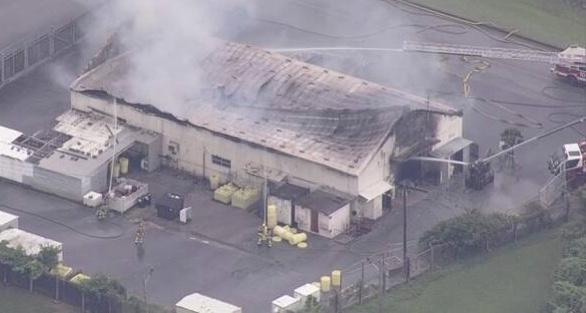 冲绳美军嘉手纳基地发生火灾 防卫局正在确认氯气泄漏情况