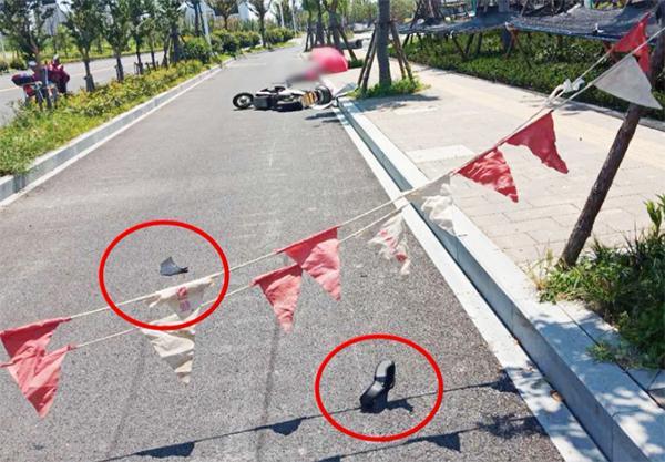 杭州一骑电动车女子被施工警示绳割喉,致气管断裂当场吐血www.smxdc.net