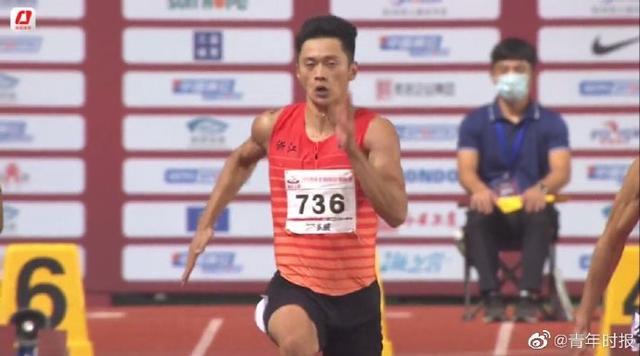 刚刚,浙江名将谢震业轻松夺得全国锦标赛百米冠军-第2张