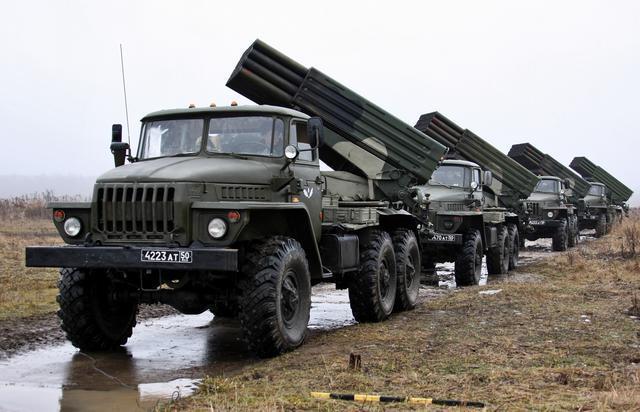 """阿塞拜疆军方称摧毁亚美尼亚军队8具""""冰雹""""火箭炮-第1张"""