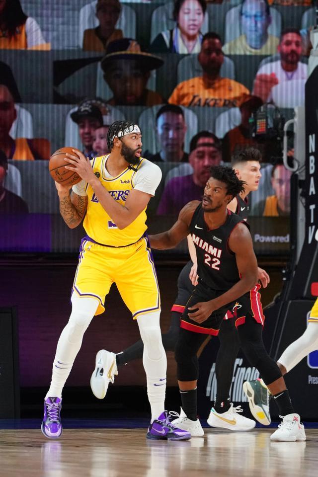 NBA总决赛第一场,浓眉哥出头,湖人大胜热火,这一波太稳了-第4张