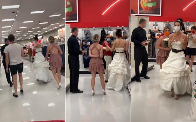"""美国女子在男友上班时""""逼婚""""带着牧师和伴娘"""