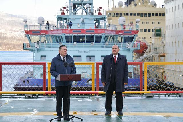 """俄核动力破冰船""""北极""""号开始服役"""