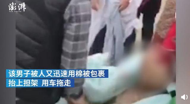 宜昌疑肺癌晚期男子被背进长江浸泡,现场画面曝光,网友:难以置信