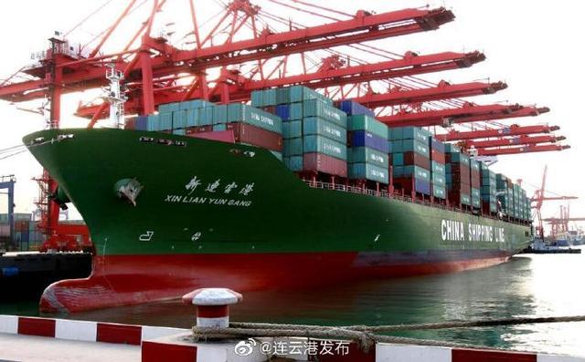 前10个月,连云港港口完成货物吞吐量21133.36万吨