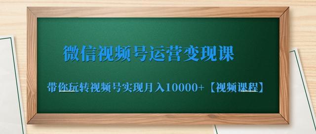 微信视频号运营变现课,带你玩转视频号实现月入10000+【视频课程】
