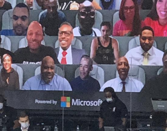 NBA总决赛虚拟观众席现大牌看客 奥巴马热情观战-第1张