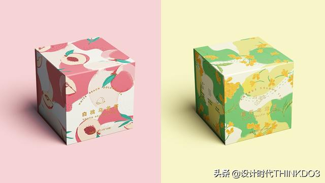 两款清新时尚风格的花茶包装设计,简直不要太美(图20)