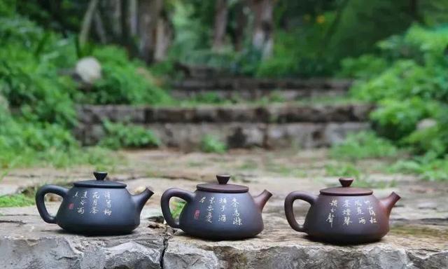 紫陶石瓢壶之美 紫陶特点-第3张