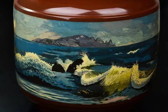 李瑞生的紫陶油画刻填 紫陶特点-第3张