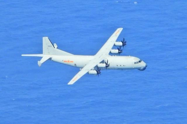 解放军军机中午再度进入台湾西南空域,20小时已3次