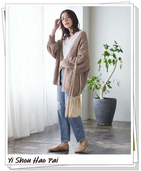 米色开衫的秋季搭配精选!24种你值得尝试的优雅穿搭-第9张