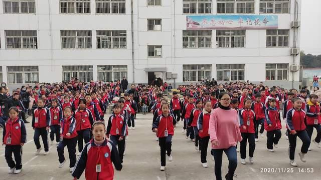 淮安順河中心小學舉行韻律操比賽