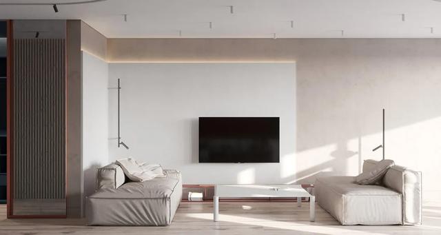 万磊案例 | 微水泥质感绝了!素色也能搭配出优雅高级的家