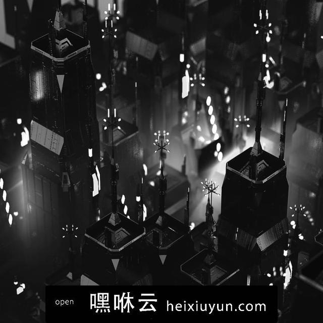 嘿咻云-[01-01-17] - Night城市的夜晚C4D动画工程文件分享