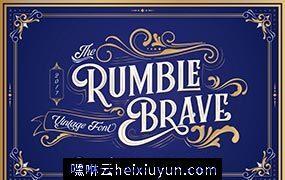 复古变形英文字体下载 Rumble Brave Typeface #2084098
