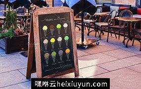 冰淇淋主题手绘插画设计素材 Ice-Cream-Poster #874130