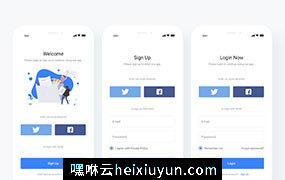 登录注册界面 Login and Sign Up Page 每日UI源文件分享 Daily UI #340