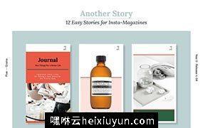 微信自媒体推广图版式参考模版 Another Story. Instamag Stories #2183363