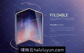 折叠屏手机矢量样机下载Smartphone Mock-Ups Foldable #3569301