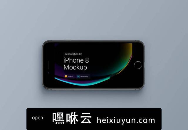 嘿咻云-移动设备样机系列:iPhone 8 苹果智能手机样机 iPhone 8 Mockups