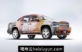 高品质高端轿车车体广告展示模型 4×4-pickup-truck-mock-up