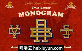 字母组合Two-Letter Monogram #2334617