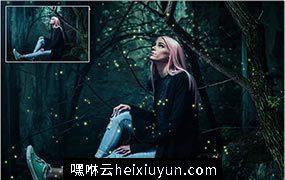 5K超高清火花/萤火虫/魔法/童话般叠加特效素材 5K Fireflies #1339112