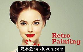 复古油画绘画特效PS动作插件 Retro Painting Vol-3
