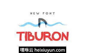 Tiburon-字体Tiburon — Font #701686