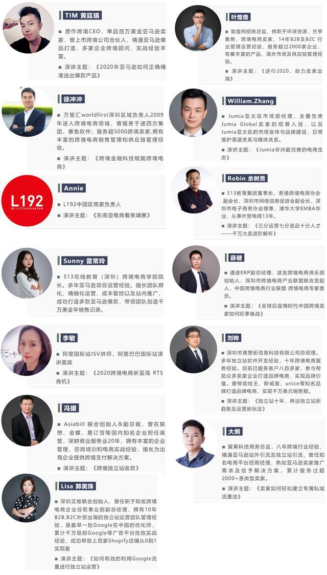 ICBE 2020 深圳跨境电商展同期千人出口跨境电商大会嘉宾名单曝光