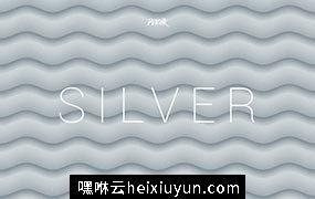 银色柔和抽象波纹背景Silver Soft Abstract Wavy Bgs #2605628
