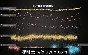 金光闪闪的节日图层样式设计素材 Glitter_Photoshop_Creative_Toolkit #1479726