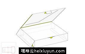 打开的零售盒模切图/刀模图EPS源文件