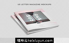 高品质的时尚高端杂志品牌手册画册楼书书籍装帧VI样机展示模