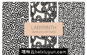 抽象迷宫主题的背景纹理素材 Labyrinth #437283