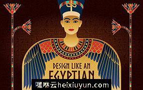 神秘国度埃及主题海报模板 Egyptian-Backgrounds-and-Frames #283982