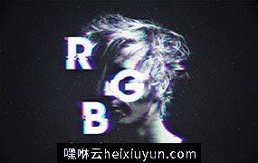 RGB / Glitch Photo FX 一款超多特效的故障艺术照片处理模版