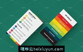 社交媒体风格企业名片模板 Social-Media-Business-Card #288805