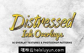 14个仿旧墨水图层样式 14 Distressed Ink Overlays #44853
